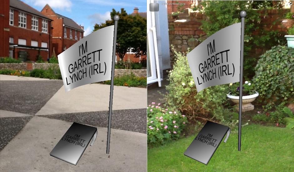 Sandwich Board 'virtual' replicas